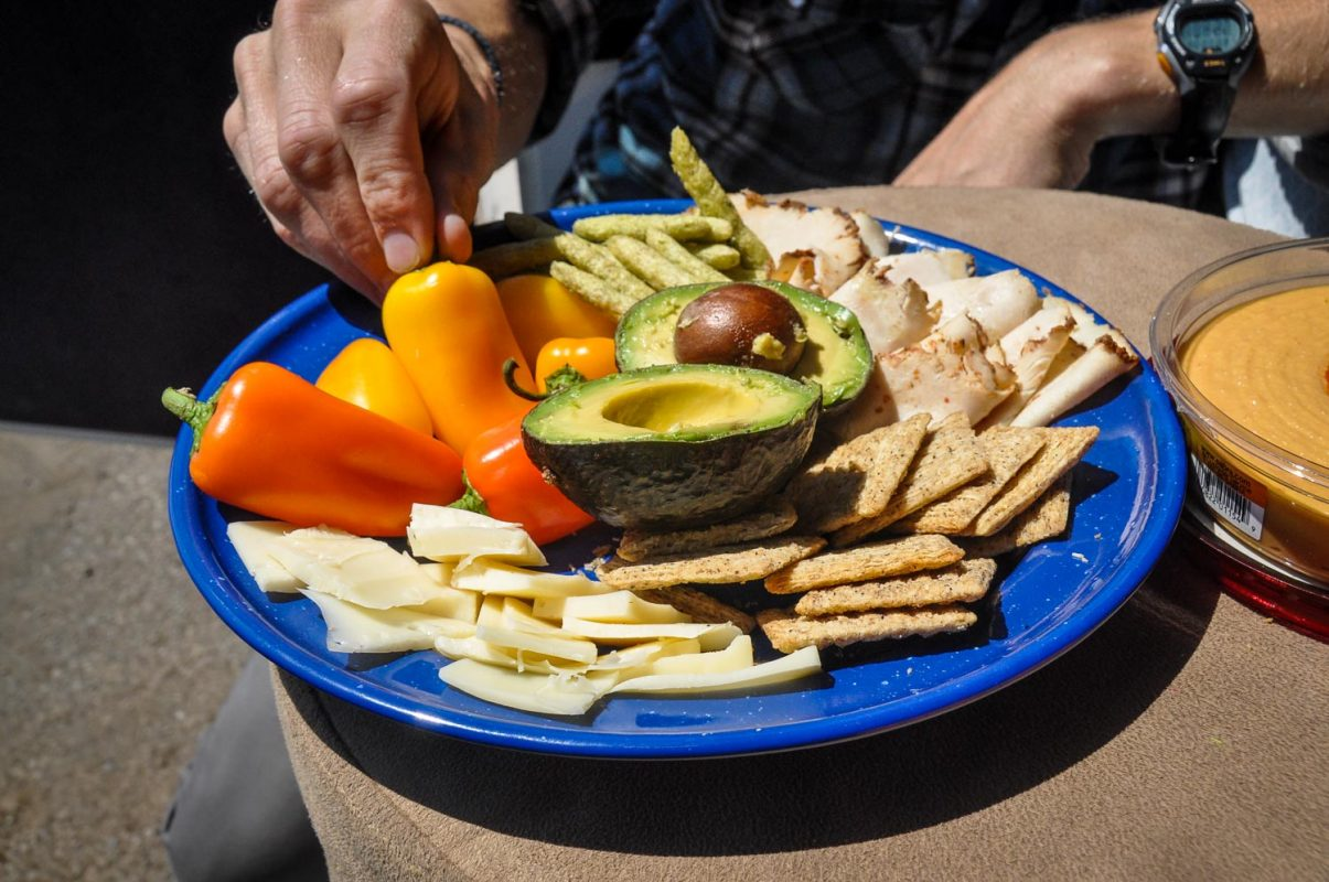 Cheese and crackers Plate Hiking Snacks