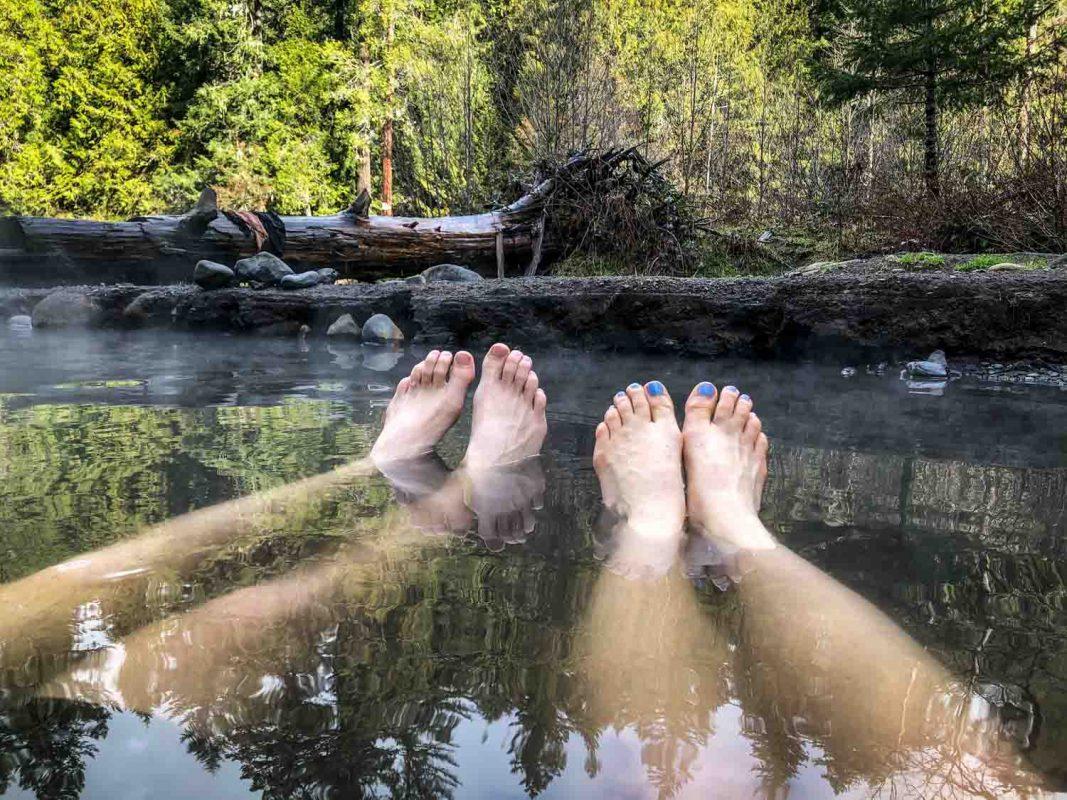 McCredie Hot Springs Feet Soak