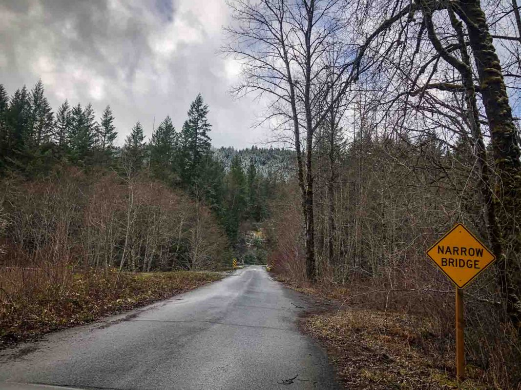 Bridge to Parking Near McCredie Hot Springs Oregon