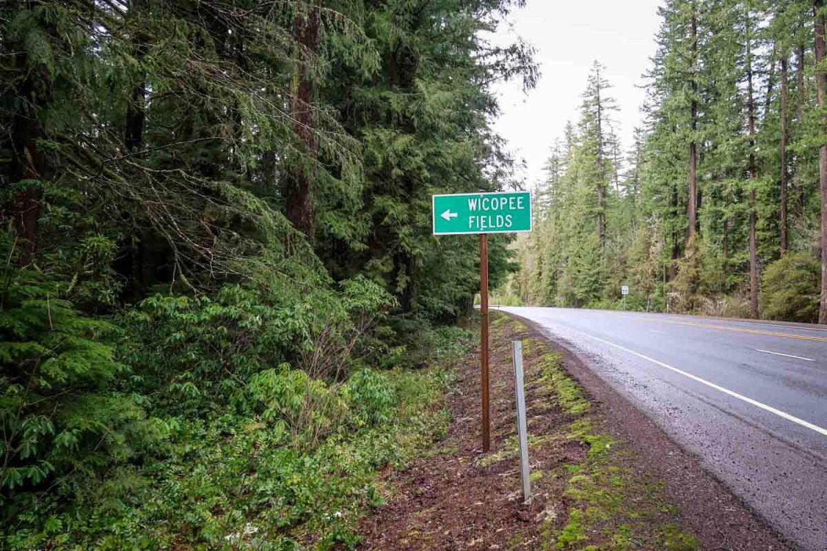 McCredie Hot Springs Wicopee Fields Sign