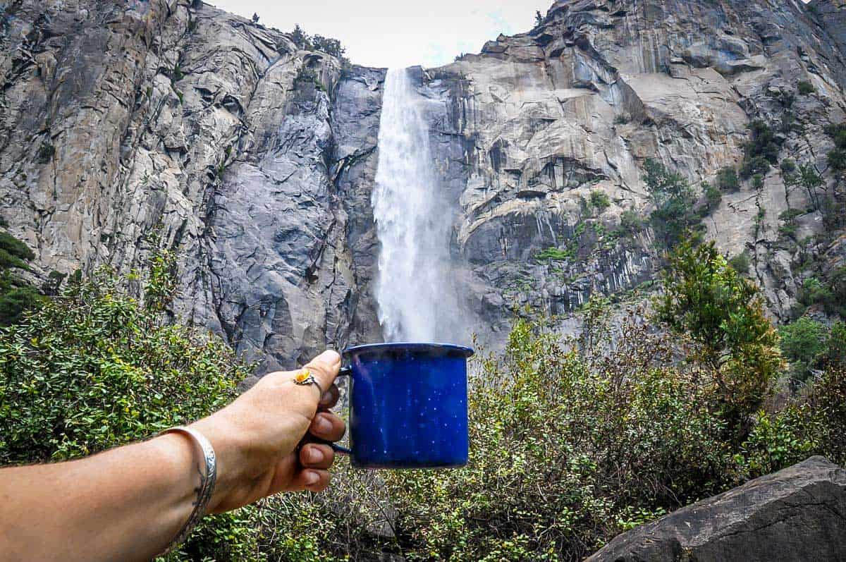 Water from Waterfall Yosemite Waterfalls