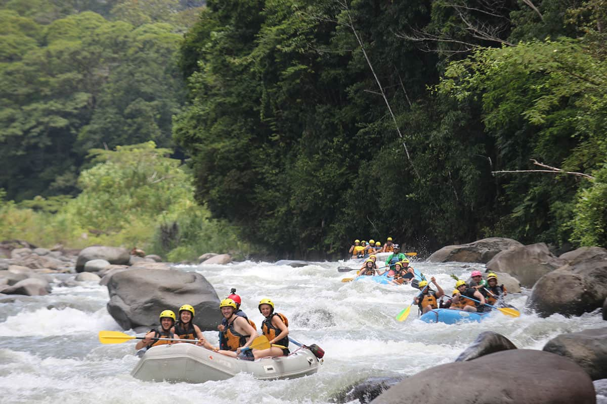 White water rafting groups in Costa Rica