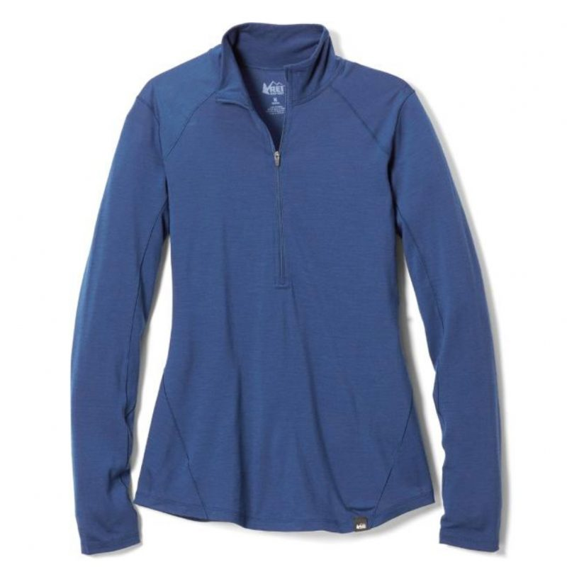 REI Merino Midweight Half-Zip Base Layer Top
