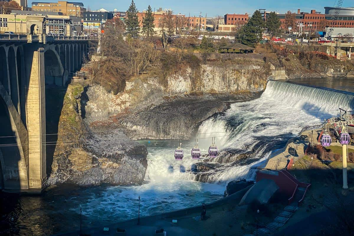Spokane Falls in Huntington Park