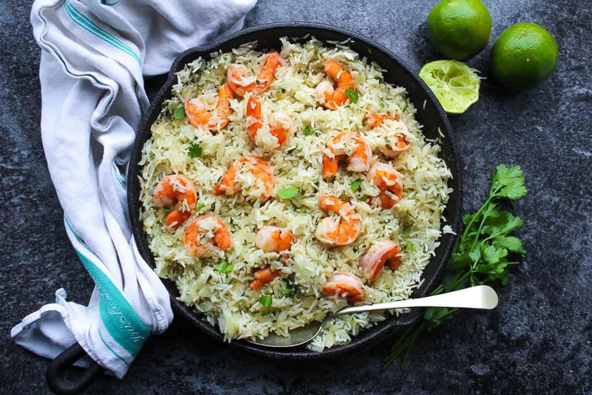One-Pot Camping Meals: Cilantro Lime Shrimp & Rice