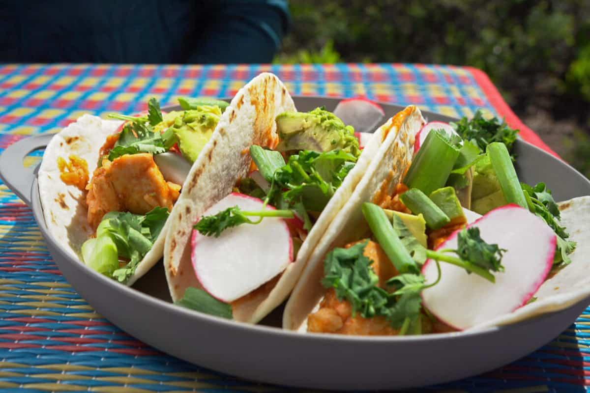 One-Pot Camping Meals: Chicken Tikka Masala Tacos